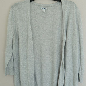 Old Navy Light Gray Cardigan